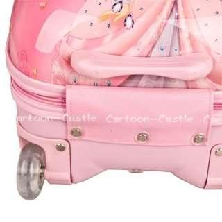 Disney Princess Luggage Bag Baggage Trolley Roller Pink