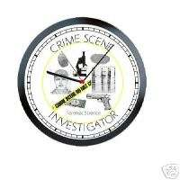 Crime Scene Investigator Cop CSI Sign Wall Clock #216