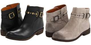 Lucky Brand Womens Paulinne Black Leather Or Grey Suede Ankle Boots