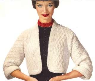 Vintage Crochet Bolero Short Jacket Sweater Pattern