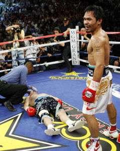 MANNY PACQUIAO VS. RICKY HATTON PRO BOXING PHOTO TKO