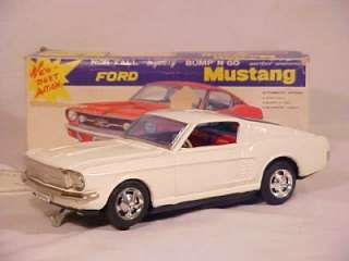 Vintage 1967 Taiyo C 11 Battery Operated Ford Mustang Fastback Bump N