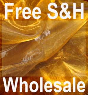 B78 Iridescent Brown Gold Crystal Organza Fabric by Y