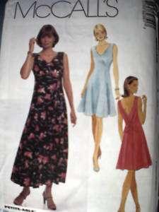 UNCUT McCalls Pattern Semi Fitted V Neck Dress Princess