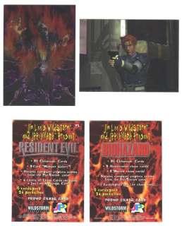 RESIDENT EVIL Trading Cards Chromium *PROMO* Set RARE!