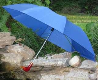 Blue Auto Open Folding Duck Head Handle Umbrella DHP