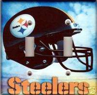 Pittsburgh Steelers Double Light Switch Plate Cover   Cloud