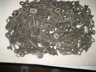 200 Antique, Vintage, Skeleton, Keys, European