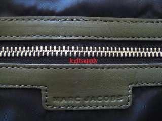 MARC JACOBS Olive Leather Tote Bag Handbag Purse Medium