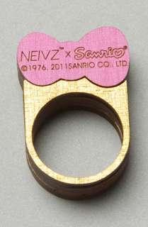 NEIVZ The Sanrio x Neivz Ministack Hello Kitty Bow Ring in Pink