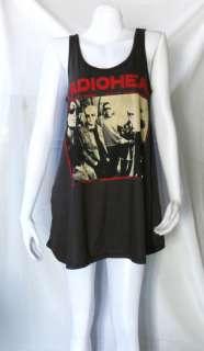 Thom Yorke RADIOHEAD ROCK PUNK DRESS T SHIRT WOMEN M L