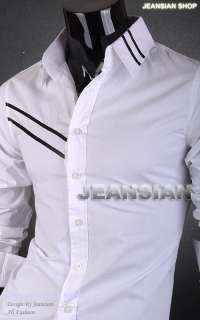 Stylish Designer Captain Slim Dress Shirt Tops Western S M L XL 8303 T