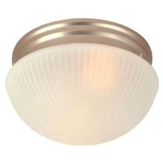 Hampton Bay 2 Light Flush Mount Satin Nickel Ceiling Mushroom Light