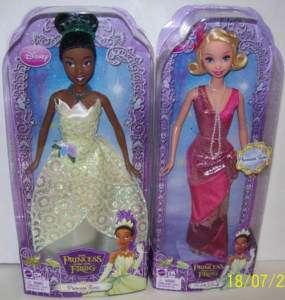 Barbie Disney Princess & Frog Tiana & Charlotte Dolls