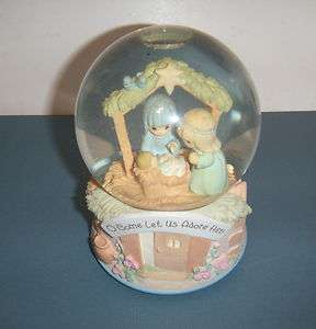 Precious Moments Figurine Oh Little Town Of Bethlehem Snow Globe Music