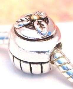 SILVER BEAD EUROPEAN CHARM SWEET CUPCAKE CAKE A70 for Bracelet