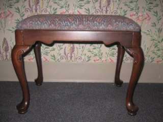 Ethan Allen Georgian Court Cherry Sofa Table or Ladies Vanity Bench