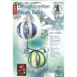 URSUS Designstreifen Paper Balls White Christmas VE=1: .de