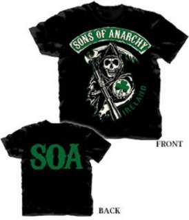 SONS OF ANARCHY IRELAND LICENSED T SHIRT (S 3X)