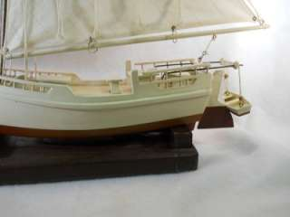 Chesapeake Bay Skipjack Sailboat Work Boat Oyster Dredging Model