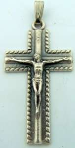 Unique Crucifixion Of Jesus oN The Cross Medal Silver P