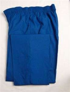 Elastic Waist Pants 2XL 2XLARGE Nurse Scrubs ROYAL BLUE
