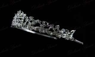 CLEARANCE ELEGANT SWAROVSKI CRYSTAL WEDDING BRIDAL PROM TIARA