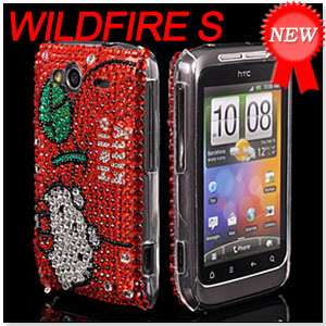 BLING RHINESTONE CASE COVER FOR HTC WILDFIRE S 2 120