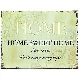 SCHILD HOME SWEET HOME BLECHSCHILD METALLSCHILD  Küche