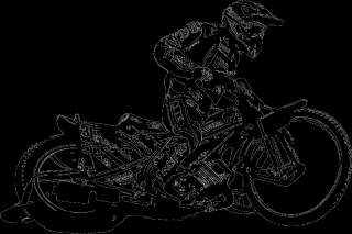 Speedway 1 Motorrad Rennsport Cross USA Motorsport WM Wandaufkleber