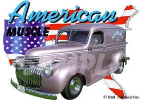 You are bidding on 1 1946 Pink Chevy Panel Truck Custom Hot Rod