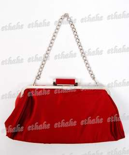 Ladies Clutch Shoulder Bag Handbag Tote Dark Red FM6EG