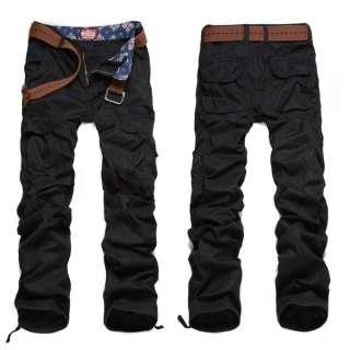 Mens Leisure Pocket Cargo Pants Multi Color Size M XXL #6521