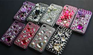 iPhone 4 Strass BLING GLITZER case Cover hülle LUXUS M