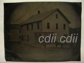 Grocery + Dry Goods Store Full Plate Tintype Photograph