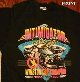 Rare True Vintage 92 Dale Earnhardt Sr NASCAR T Shirt L