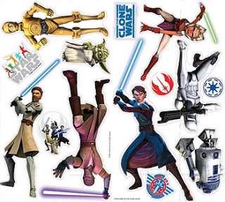 STAR WARS CLONE Jedi Warriors Lightsaber WALL STICKERS