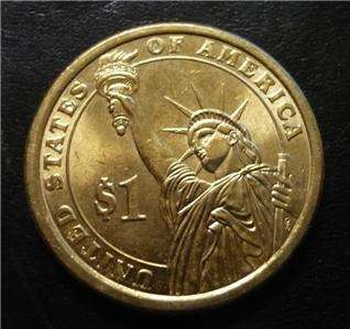 John Tyler 2009D Gold Dollar Clad Coin 10th President