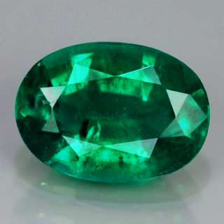 Natural Gem 1.81ct 9.0x6.5mm Oval TOP AAA Green EMERALD, COLOMBIA