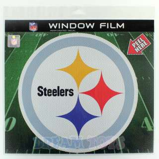 NFL Pittsburgh Steelers 9.5 Window Film Perforated Decal Sticker