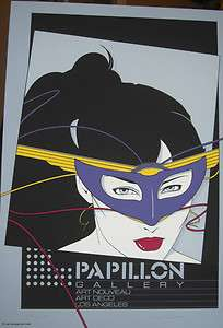 Patrick Nagel Papillon Hand Signed & Numbered Serigraph