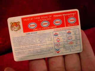 Vintage 1969 ESSO CREDIT CARD Humble Oil & Refining Company GAS