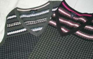 Tommy Hilfiger Women Knit Sweater Vest V Neck Pink OR Blue accents