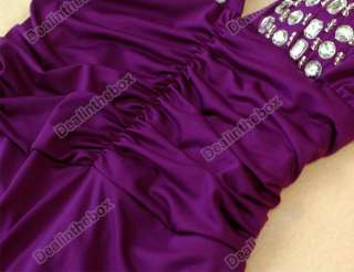 Womens Low Cut V neck Strappy Backless Jewel Full length Evening Gown