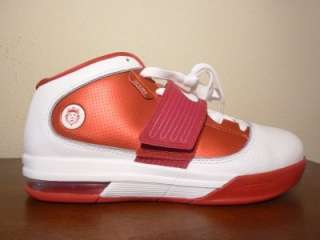 Nike Zoom Soldier IV Lebron James Air Max Red White Basketball Shoes 8