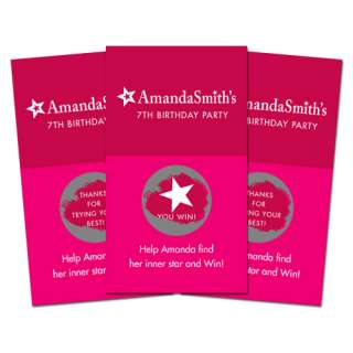 10 AMERICAN GIRL DOLL Birthday Party SCRATCH OFF GAMES