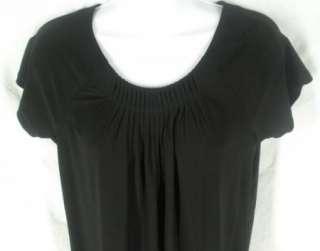 Josephine Chaus New Black Pin Tuck Shirt Top Womens S