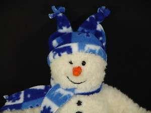 GUND PLUSH BLUE SCARF WINTER SNOWMAN SWOOSH STUFFED TOY  
