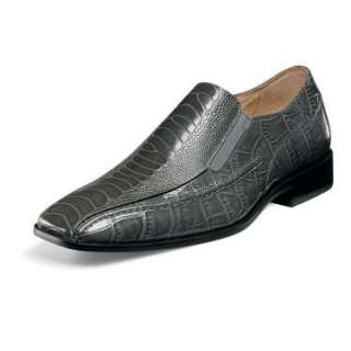 Stacy Adams the TEAGUE Mens Gray Leather Shoe 24599 020