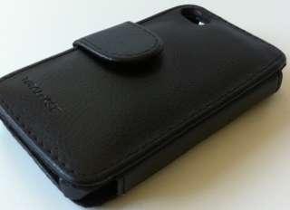 Apple iPhone 4 Totalcase Tasche Leder Hülle Schwarz Neu